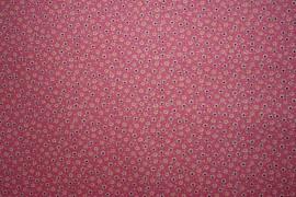 Bawełna - drobne kwiatki na różowym