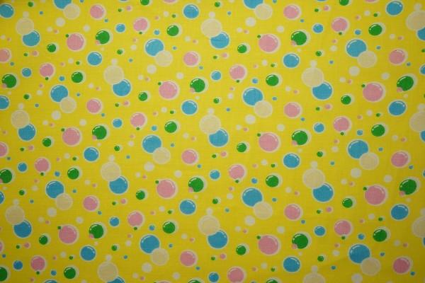 Bawełna - balony na żółtym tle