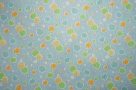 Bawełna - balony na błękitnym tle