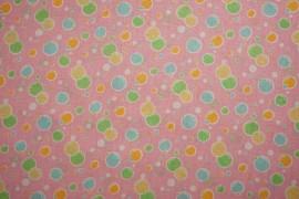 Bawełna - balony na różowym tle