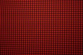 Bawełna - czerwono-czarna pepitka