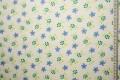 Bawełna - niebieskie kwiatki