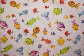 Bawełna - kolorowe rybki