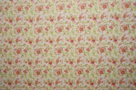 Bawełna - malinowe kwiatki