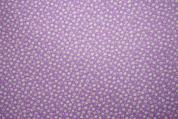 Bawełna - kwiatki na fioletowym tle