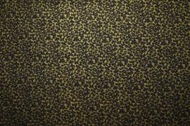 Bawełna - złoto-granatowy wzór