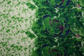 Bawełna - zielona akwarela