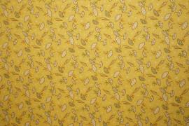 Bawełna - parasolki na żółtym tle
