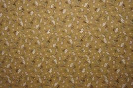 Bawełna - parasolki na jasnobrązowym tle