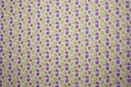 Bawełna - kwiaty z brokatem