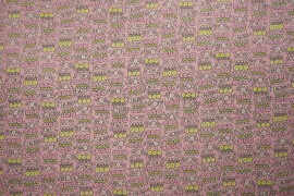 Bawełna - różowe i żółte kwiatki