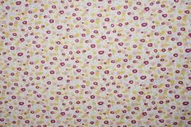 Bawełna - beżowo-żółte plamki