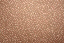 Bawełna - kwiatki na brązowym tle