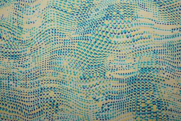 Bawełna - pastelowe fale