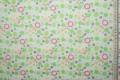 Bawełna - zielone kwiatki - metr