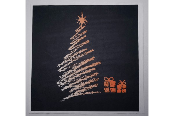Panel poduszkowy - pomarańczowa choinka