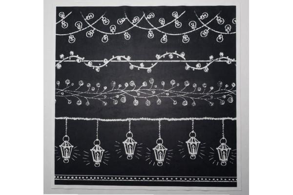 Panel poduszkowy - białe lampki