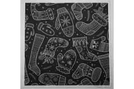 Panel poduszkowy - świąteczne skarpety