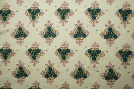 Bawełna - listki na jasnozielonym tle
