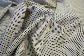 Bawełna - białe tło, granatowe kropki 2 mm