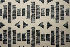 Tkanina dekoracyjna - grafitowy wzór