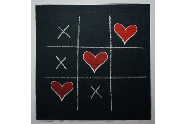 Panel poduszkowy - serce i krzyżyk