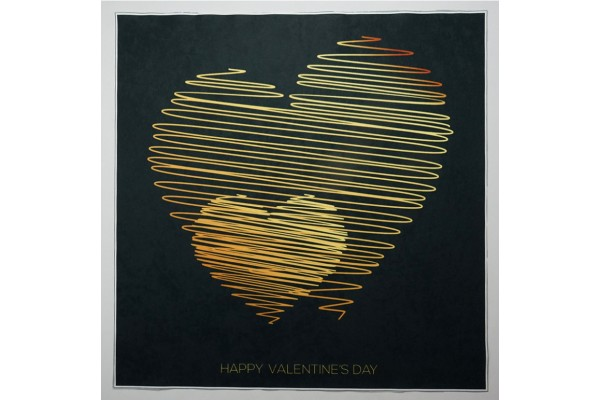 Panel poduszkowy - złote serce