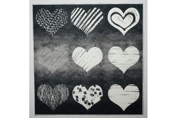 Panel poduszkowy - kredowe serca