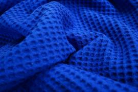 """Bawełna wafel w kolorze """"Kobalt"""""""