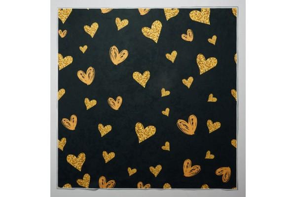 Panel poduszkowy - złote serduszka