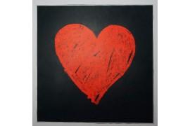 Panel poduszkowy - czerwone serce