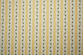 Tkanina dekoracyjna - paski pszczółek