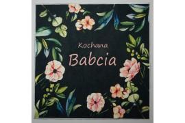 Panel poduszkowy - kwiatowa ramka