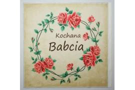 Panel poduszkowy - różany wianek