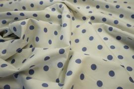 Bawełna - białe tło, jasnofioletowe kropki 1 cm