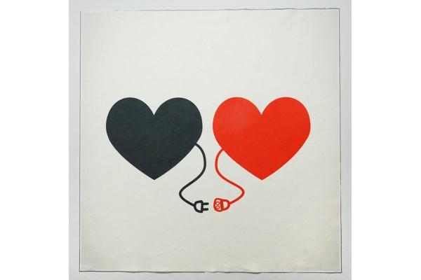 Panel poduszkowy - serca ze wtyczkami