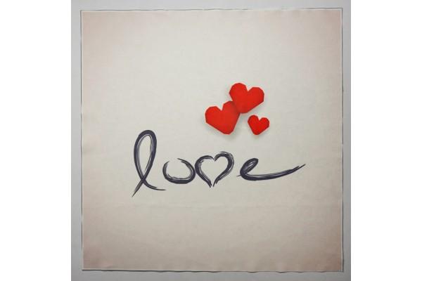 Panel poduszkowy - napis Love na jasnym tle