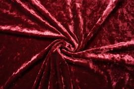 Welur - kolor bordowy