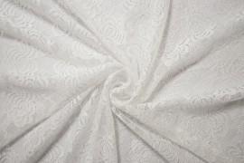 Koronka z lycrą - kolor biały