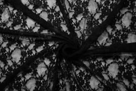 Koronka z lycrą - kolor czarny