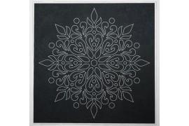 Panel poduszkowy - biała mandala