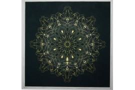 Panel poduszkowy - jasnozłota mandala
