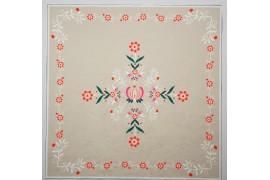 Panel poduszkowy - folkowy wzór na beżowym tle
