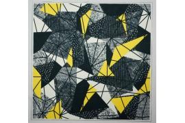 Panel poduszkowy - geometryczny wzór, szaro-żółty