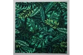 Panel poduszkowy - liście butelkowa zieleń