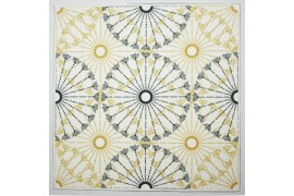 Panel poduszkowy - złoto-czarna mandala