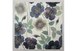 Panel poduszkowy - niebieskie kwiaty