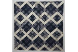 Panel poduszkowy - geometryczny wzór, granatowo-beżowy