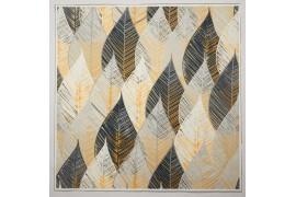 Panel poduszkowy - szaro-złote liście