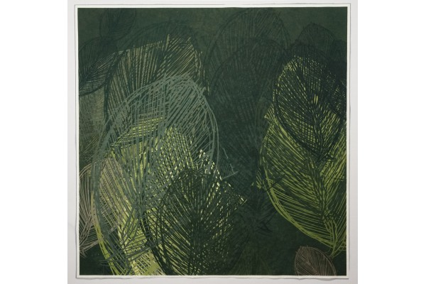 Panel poduszkowy - czarno-szare liście